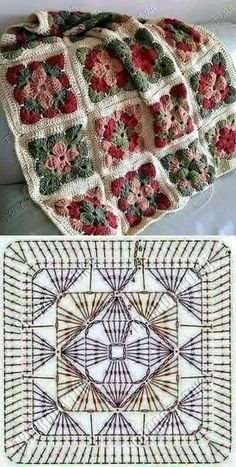 How to Crochet a Solid Granny Square:separator:How to Crochet a Solid Granny Squ. : How to Crochet a Solid Granny Square:separator:How to Crochet a Solid Granny Square Granny Square Crochet Pattern, Crochet Blocks, Crochet Motifs, Crochet Diagram, Crochet Chart, Crochet Squares, Crochet Blanket Patterns, Granny Squares, Crochet Granny