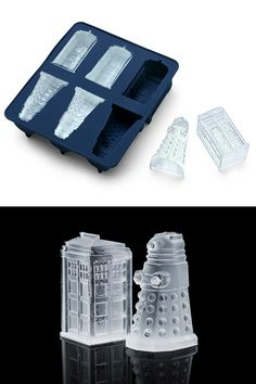 Doctor Who Dalek and Tardis ice tray