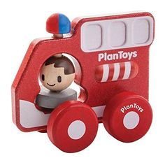 Plan Toys Fire Truck Min Vehicle ** Visit the image link more details. Note:It is affiliate link to Amazon.