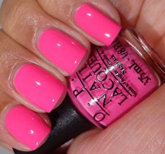 Opi pink outside the box opi gel nails, opi gel polish, manicure y pedicure Pink Gel Nails, Gel Nail Colors, Neon Nails, Opi Nails, Neon Pink Nail Polish, Nail Colour, Nail Polishes, Cute Nails, Pretty Nails