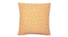 Bold geometric pillows for your bed, sofa or chairs! Art and artful home decor is the easiest way to add movement to any space. It doesn't cost a fortune to breathe life into a space. Mix patterns or play it safe with a monochromatic look.  Persimmon, 18x18