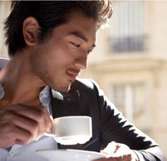 i have no idea who this guy is but i want to eat his face with kisses! Godfrey Gao