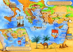 Más BIBLIA: Viajes del Apóstol Pablo - (Mapas) Bible Resources, Bible Activities, Paul's Missionary Journeys, Bible Mapping, Sunday School Kids, Religion Catolica, Bible Study For Kids, Bible Crafts, Bible Stories