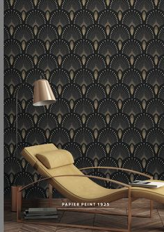 Wallpaper Source by souffron Wallpaper Art Deco, Bathroom Wallpaper, Cool Wallpaper, Wallpaper Backgrounds, Wallpapers, Deco Design, Wall Design, Motif Art Deco, Wallpaper Iphone Disney