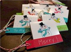 Gift Tags made from - Matchbook Note Pads!