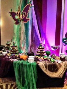 Mardi Gras dessert table