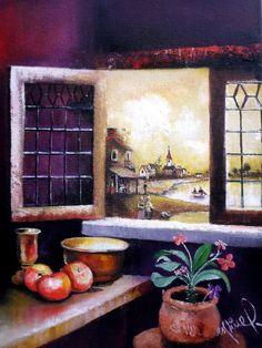 VENTANEANDO EN 1622 oleo sobre lienzo (30x40cm) $200.000 pesos