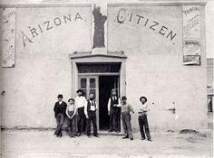 Oct. 15th, 1870   John Wasson publishes the first issue of the Arizona Citizen, a weekly Republican publication meant to counter the Democratic voice of the Weekly Arizonan, owned by Pierton Donner. Tucson's population according to the U.S. Census is 3,224. The state's population is 9,658.