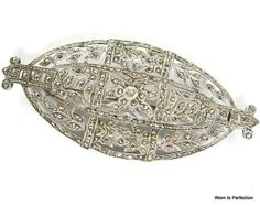 Art Deco Brooch Marcasite and Sterling Silver by worn2perfection, $225.00