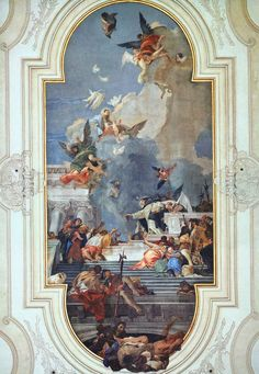 Page of The Institution of the Rosary by TIEPOLO, Giovanni Battista in the Web Gallery of Art, a searchable image collection and database of European painting, sculpture and architecture Baroque Painting, Baroque Art, Most Famous Paintings, Classic Paintings, Fresco, Renaissance Kunst, Ceiling Art, Italian Painters, Rococo Style
