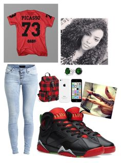 """On a next level"" by jahnya ❤ liked on Polyvore featuring NIKE, Object Collectors Item, Aéropostale and Bling Jewelry"