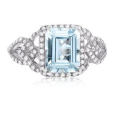 This gorgeous Effy emerald-cut genuine aquamarine gemstone & diamond cocktail ring is crafted in 14 karat white gold. About Effy: A family-owned business based in New York City for over 30 years, Effy has built a reputation for unrivaled quality and flawless craftsmanship, with a sense of individuality captured in every design. Famous for the use of vibrant colored gemstones, each one-of-a-kind collection offers something for everyone and the opportunity to mix and match to create a look ...