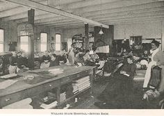 Sewing Room, Willard Asylum for the Insane, Ovid, New York