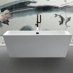 rectangular freestanding soaking tub. Legion Furniture 67  Acrylic Contemporary Rectangular Freestanding Bathtub Tanya Soaking Tub For Two