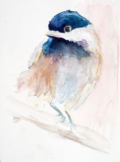 Hey, I found this really awesome Etsy listing at https://www.etsy.com/listing/126800290/original-black-capped-chickadee-painting