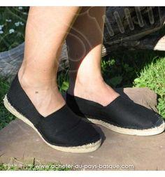 3497caabb780 Espadrille noire cousue main basque Prodiso Mauléon Marixu - artisan -  chaussure traditionnelle - France Imprimer