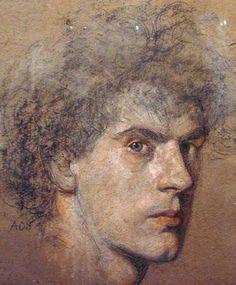 "Austin Osman Spare ""Self-Portrait"" ca 1906 Sun In Aries, Selfies, Austin Osman Spare, Automatic Drawing, English Artists, Royal College Of Art, Portrait Art, Portrait Paintings, Types Of Art"