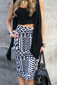 TRIBAL LONG PENCIL SKIRT need this skirt for convention