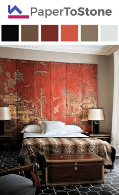 Bedroom color palette - black dark-gamboge dark-grayish-malachite-green orange