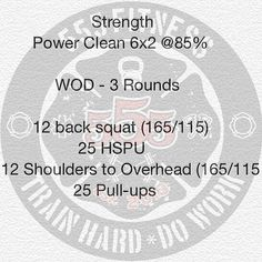 The OG WOD  Week #3 Day#4  You can cycle the bar on these cleans or drop from the top reset and pull.  Find a good pace on this conditioning session. Lots of shoulder work so break them up well before you reach fatigue. -  Follow our #555advocate @britneyholmberg as she does one #555honorwod each day for #555heronovember as tribute to not being able to grow a mustache for #555noshavemovember ________________________________________  Want to be featured? Show us how you train hard and do…