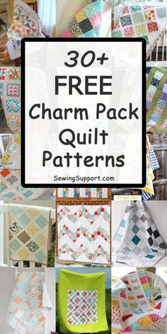 Sewing Patterns: Over 50 Free Charm Pack Quilt patterns, tutorials, and diy projects from 5 inch squares. Great source of ideas for your next sewing or quilting project. Many simple and easy designs. Charm Pack Quilt Patterns, Charm Pack Quilts, Jelly Roll Quilt Patterns, Charm Quilt, Quilt Patterns Free, Easy Patterns, Block Patterns, Sewing Patterns, Easy Hand Quilting