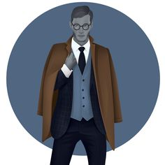 Graphic Design Inspiration, Character Inspiration, Man Sketch, Story Characters, Freelance Illustrator, Drawing People, Cool Words, Dapper, Menswear