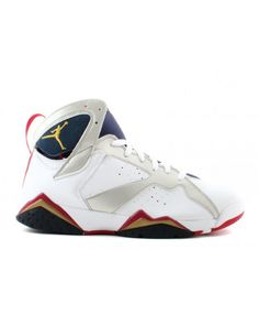 ab0881e813c Air Jordan 7 Retro Olympic White Metallic Gold Midnight Navy True Red  304775 171 Nike Air