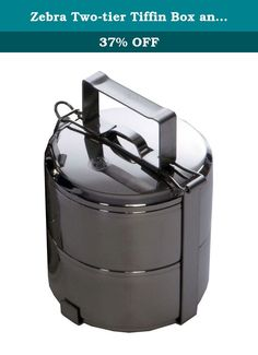 Zebra Two-tier Tiffin Box and Food Carrier (12 cm). The Food Carrier by Zebra is the ultimate way to store your food while camping or travelling. They are tough, stackable and packable. Made of stainless steel, the food carrier is either two or three seperate containers that are held together by a secure locking handle. It is the perfect solution for hauling granola, fruits, nuts, candy or any food that is spillable or crushable. The easy-to-carry low profile handle keeps the contents…