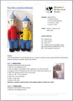 Pat a Mat | Návody na háčkované hračky Crochet Hats, Teddy Bear, Toys, Animals, Tutorials, Author, Amigurumi, Handarbeit, Knitting Hats