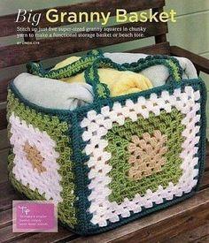Luty Artes Crochet: Cesta quadrada de crochê                                                                                                                                                     Mais