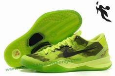 Nike Zoom Kobe VIII 8 Basketball shoes Fluorescent Green Black Style 555035 712
