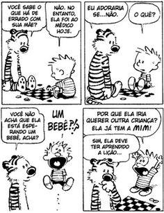 Calvin and Hobbes Best Calvin And Hobbes, Calvin And Hobbes Comics, Snoopy Comics, Bd Comics, Funny Comics, Funny Cute, The Funny, Hilarious, Funny Memes