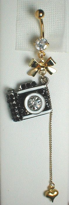 Unique Belly Ring - Trendy Camera.
