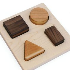 Shape Puzzle, Personalized Wood Puzzle, Wooden Toy Montessori Preschool Toy