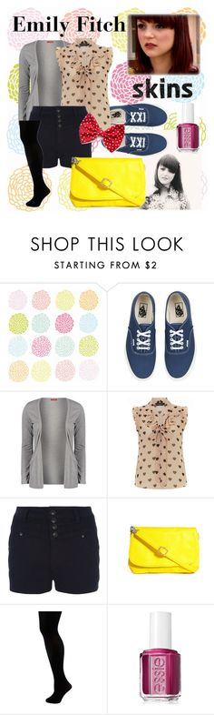 """""""Emily Fitch ~ Skins."""" by rachelzawilski ❤ liked on Polyvore featuring Influence, Dorothy Perkins, Pieces and Essie"""