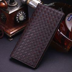 Men's Bifold Leather Credit Card Holder Billfold Wallet Purse Checkbook Clutch #Unbranded #Bifold