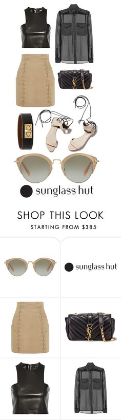"""""""80. Contest Entry"""" by piamb ❤ liked on Polyvore featuring Miu Miu, 3.1 Phillip Lim, Balmain, Yves Saint Laurent, Tom Ford, Givenchy, sunglasses, contestentry and shadesofyou"""