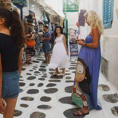 My Miss Art dress spotted on Mykonos island :) Thank you! Mykonos Island, Painted Mugs, Love Painting, Rain Boots, Canvas, Dresses, Art, Tela, Vestidos