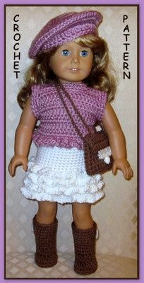 Doll Clothes Crochet Pattern Fits 18 inch American Girl 25 | eBay.