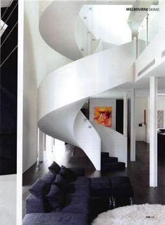 modern spiral stair case