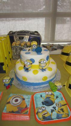 minion cake I made. First cake I ever made :)