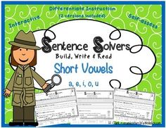 Sentence Solvers ~ Short Vowels {CVC} is an interactive, phonics-based, sentence-building activity.  This differentiated activity allows students to assess their own work by checking for capitalization, punctuation, spacing, handwriting, and reading fluency.