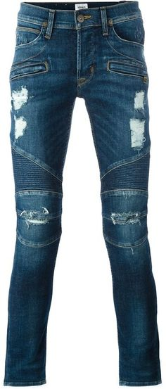 Hudson distressed skinny jeans Slim Man, Distressed Skinny Jeans, Stylish, Pants, Men, Tops, Fashion, Trouser Pants, Moda