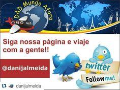 Acompanhe o D&D Mundo Afora no Twitter e viaje junto coma  gente:  @danijalmeida http://ift.tt/1JUgiOy  #mundoafora #dedmundoafora #mundo  #travel #viagem #tour #tur #trip #travelblogger #travelblog #braziliantravelblog #blogdeviagem #rbbviagem #tripadvisor #trippics #instatravel #instagood #wanderlust #worldtravelpics #photooftheday #blogueirorbbv #twitter #follow #following #photo