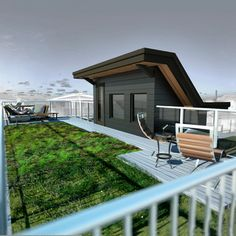 Narrow Passive House - Green Roof - contemporary - patio - vancouver - One SEED Architecture + Interiors