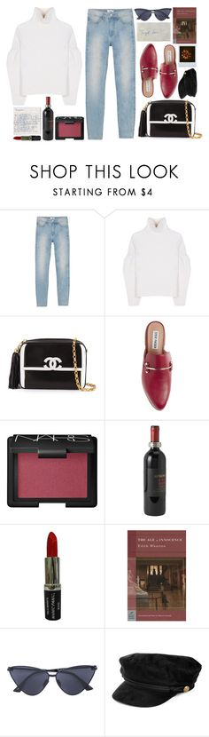 """2JUL"" by mariimontero ❤ liked on Polyvore featuring Monki, Victoria Beckham, Chanel, Steve Madden, NARS Cosmetics, Match, Manic Panic NYC and Le Specs"