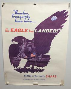 Original Vintage Apollo 11 NASA Poster The Eagle Has Landed 1969 | eBay