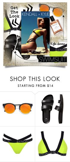 """""""Swimsuit Style: Kylie Jenner"""" by chocolate-addicted-angel ❤ liked on Polyvore featuring LULUS, Gap, Topshop and Terre Mère"""