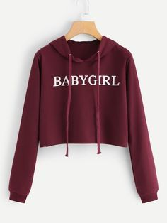 Crop Top Hoodie, Cropped Hoodie, Cute Hoodie, Girls Fashion Clothes, Teen Fashion Outfits, Crop Top Outfits, Cute Casual Outfits, Jugend Mode Outfits, Vetement Fashion