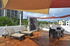 roof deck shade designs - Google Search